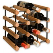 Wooden/Steel Stackable Wine Rack