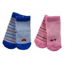 2 Pairs Colored Baby Socks