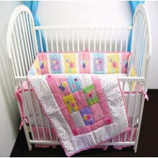 Girl's Construction Bedding Set