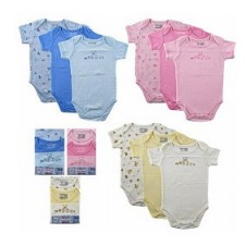 1 Pack Short Sleeve Bodysuit (3pcs)