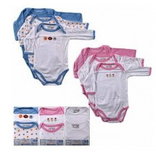 1 Pack Long Sleeve Baby Bodysuit (3pcs)