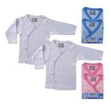 1 Pack Long Sleeve Side Snap Baby Shirt (2pcs)