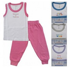 Sleeveless Baby Tee Top & Baby Pants