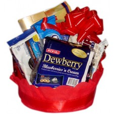 Assorted Food Packs in Basket