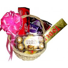 Assorted Chocolate Lover Basket 12