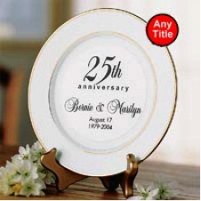 Personalized Ceramic Display Plate with Stand