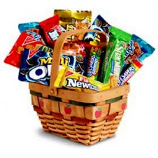 An Apple a Day Basket of Nabisco Snacks