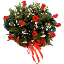 Delicate Complementary Flowers with Greenery in a Bouquet