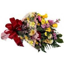 Wrapped Bouquet of Seasonal Flowers