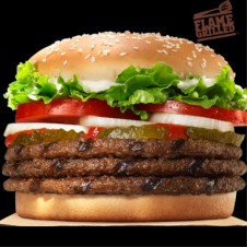 3-Meat Whopper  Meal by  Burger King