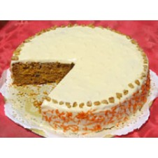 Carrot Walnut Cake with Cream Cheese Icing by Cookie Blossoms