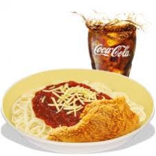 1-pc. Chickenjoy with Spaghetti by Jollibee