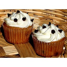 Chocolate Chip Cupcakes by Cookie Blossoms