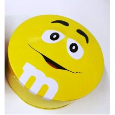 M&M's Candy Yellow Tin Can