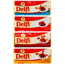 Delfi Assorted Chocolate 4 Bars 80g each