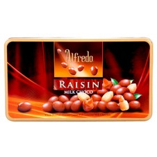 Alfredo: Raisin Milk Choco in Tin Can 180g