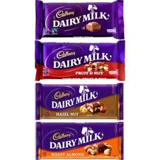 Cadbury Dairy Milk 4 Assorted Bars 75g each