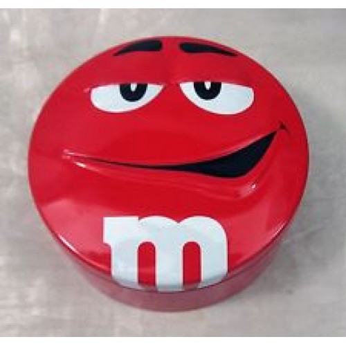 M&Ms Red TIn Can