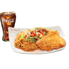 Chinese-Style Fried Chicken with Pancit Canton & drinks by Chowking