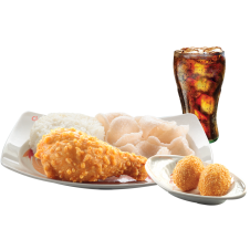 Chinese-Style Fried Chicken with 2 pc. Buchi & drinks by Chowking