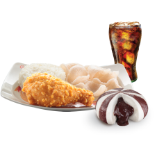 Chinese-Style Fried Chicken with Choco Pao & drinks by Chowking
