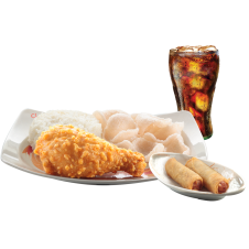 Chinese-Style Fried Chicken with Lumpiang Shanghai  & drinks by Chowking
