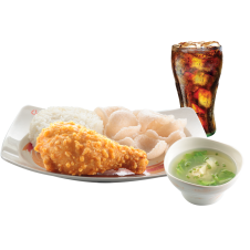 Chinese-Style Fried Chicken with Wonton soup & drinks by Chowking