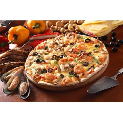 Seafood pizza by domino 39 s pizza for Dominos pizza salon