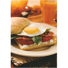 Egg Filling on Ciabatta by Mrs. Fields