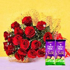 Red Blooms With Cadbury Treats