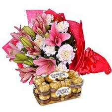 Colourful Flower Surprise with Ferrero Rocher