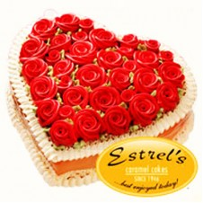 Marshmallow Heart Cake by Estrel's