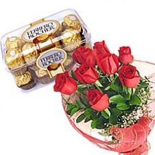 Heart 2 Heart Rose With Ferrero Rocher