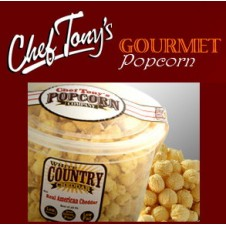 White Country Cheddar Flavored Popcorn by Chef Tony's