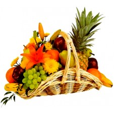 A Basket Of Full Fresh Fruits
