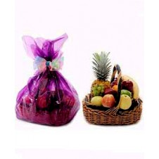 Fresh Fruit Basket. Wrapped With Nice Wrapper