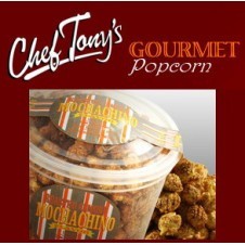 Roasted Almond Mochachino Flavored Popcorn by Chef Tony's
