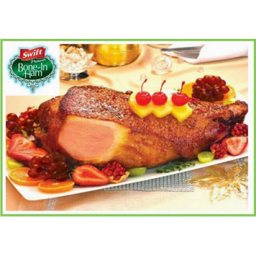 Swift Premium Bone-in Ham (3.194 kg.)