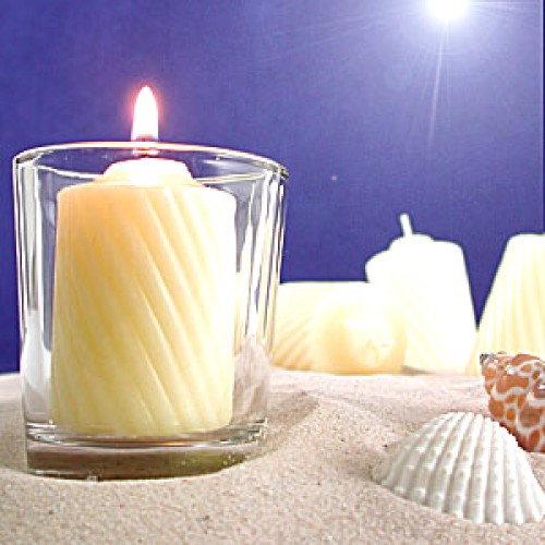6 Pcs Wonderful Candles with Glass Holder!