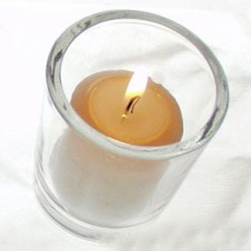 6 Pcs Wonderful Candles ith Glass Holder!