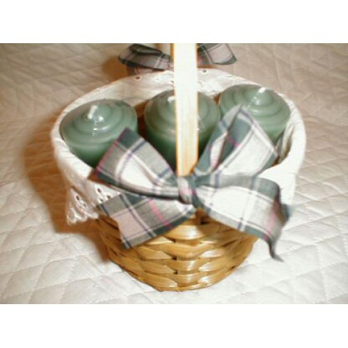 6 Pcs Candles In A Basket!