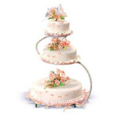 Lovely in Peach Cake by Red Ribbon