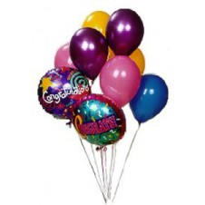 6 Pcs Latex Balloons And Two Pcs Mylar Balloons