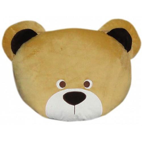 Dog Head Brown Fancy Pillow