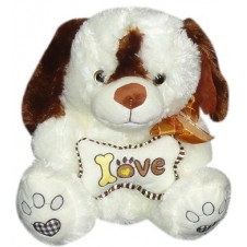 Dog with Love Bone Pillow