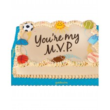 Sports Day Greeting Cake by Goldilocks