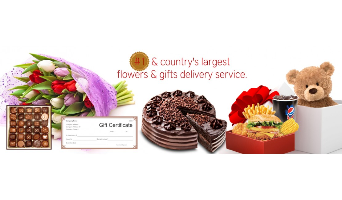 #1 and country's largest flowers and gifts delivery service.