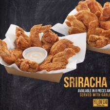 Sriracha Wings by Yellow Cab